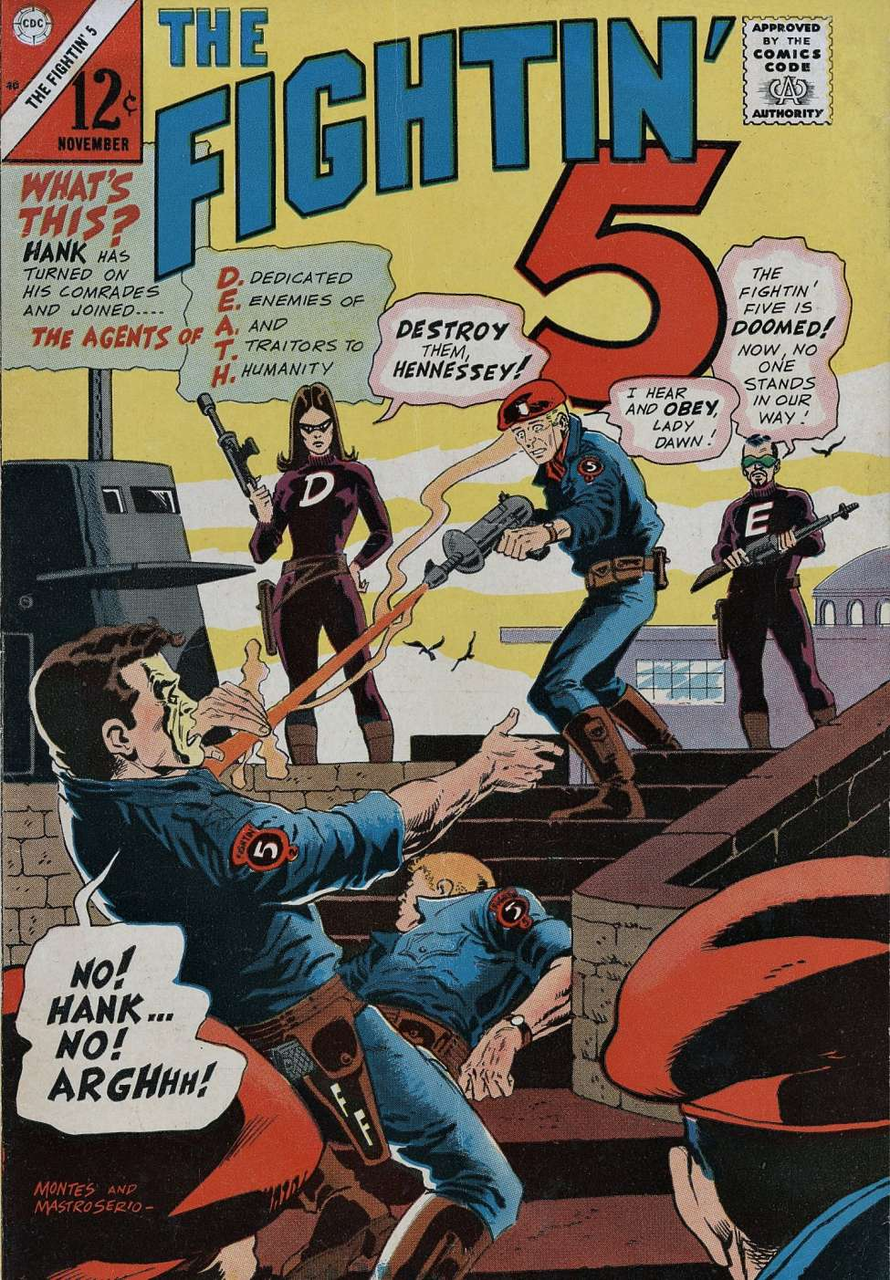 Comic Book Cover For Fightin' Five #40