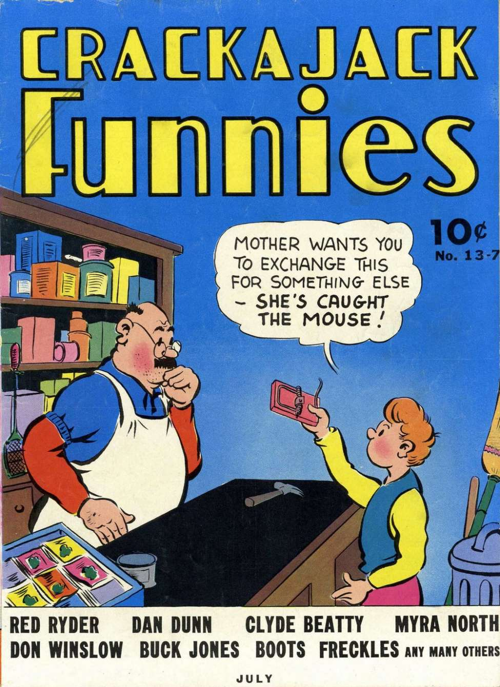 Comic Book Cover For Crackajack Funnies #13