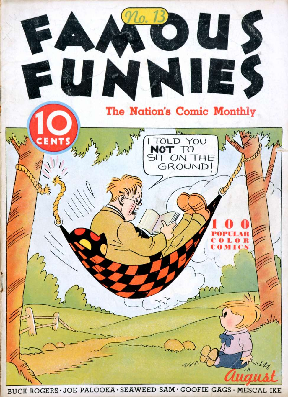 Comic Book Cover For Famous Funnies #13