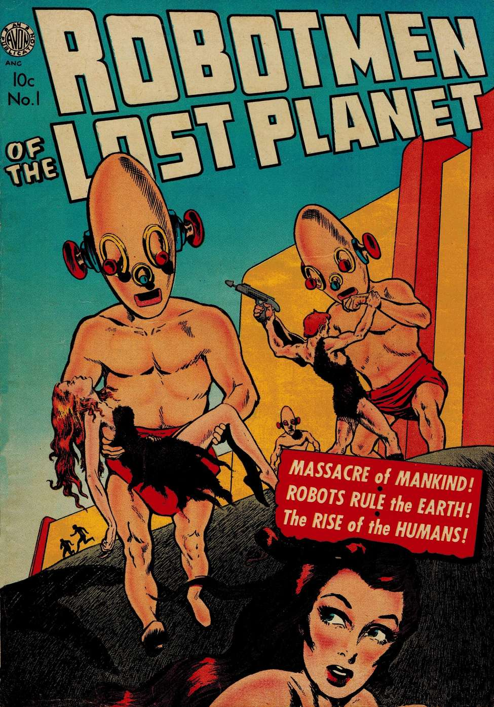 Comic Book Cover For Robotmen of The Lost Planet 1