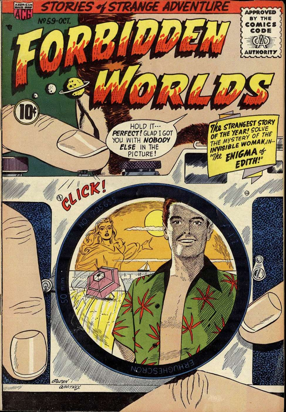 Comic Book Cover For Forbidden Worlds #59