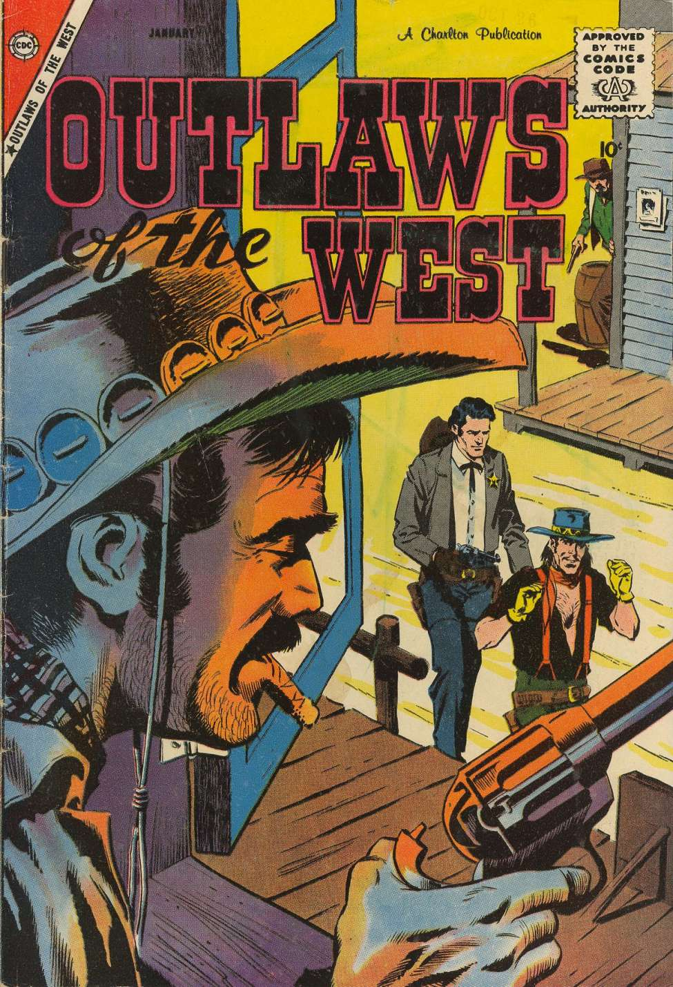 Comic Book Cover For Outlaws of the West #18