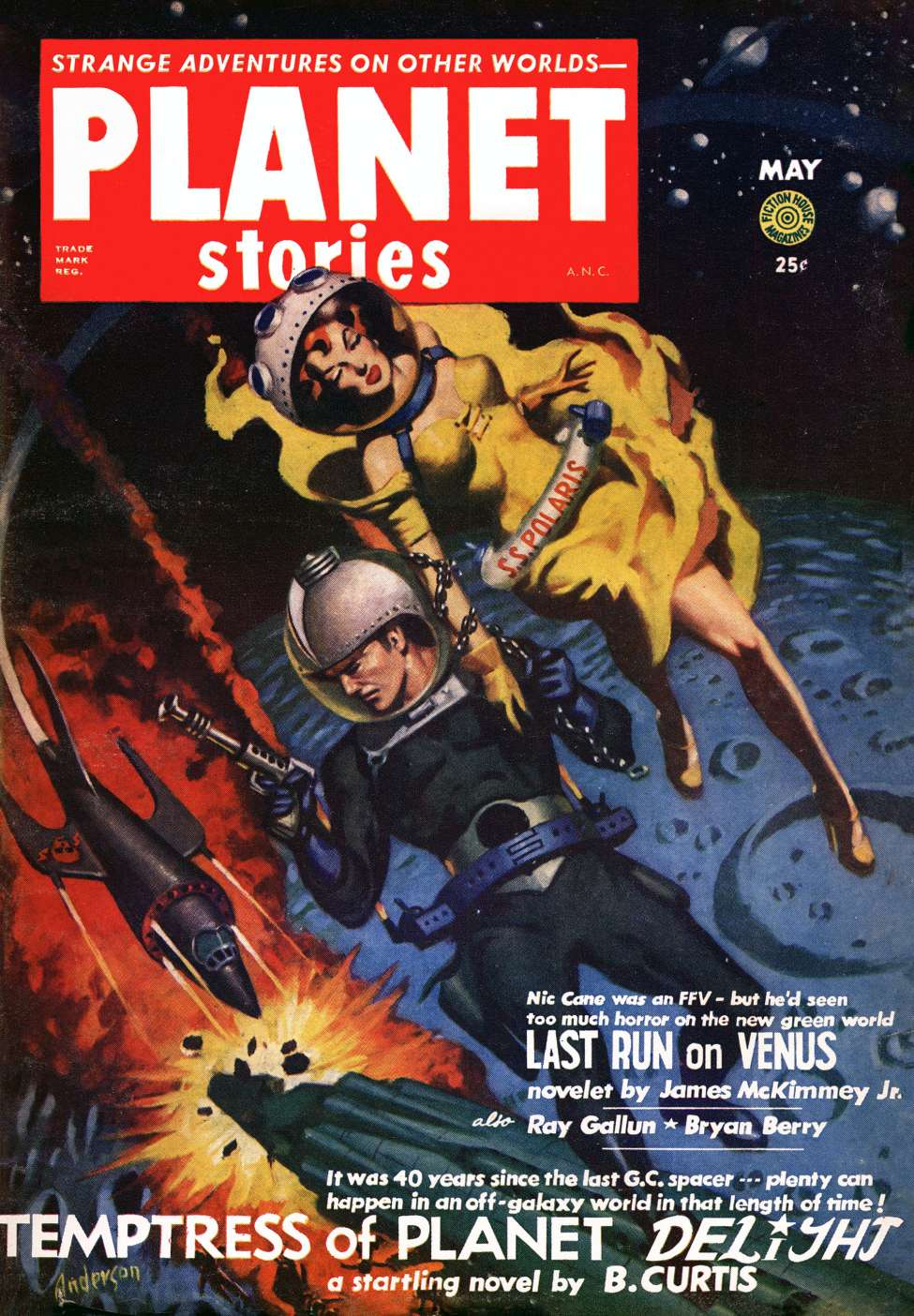 Comic Book Cover For Planet Stories v05 12 - Temptress of Planet Delight - B. Curtis