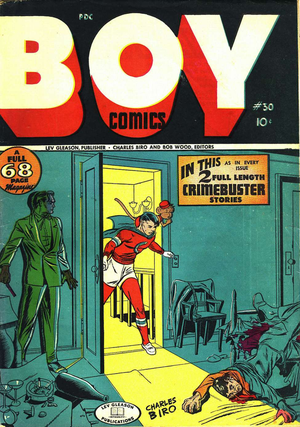 Comic Book Cover For Boy Comics #30