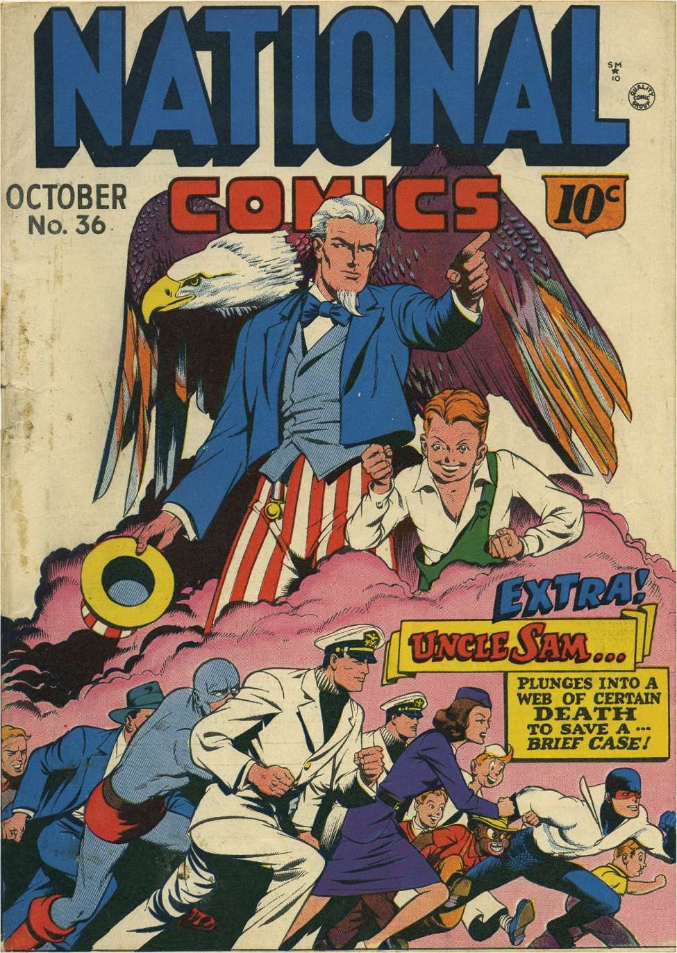 Comic Book Cover For National Comics #36