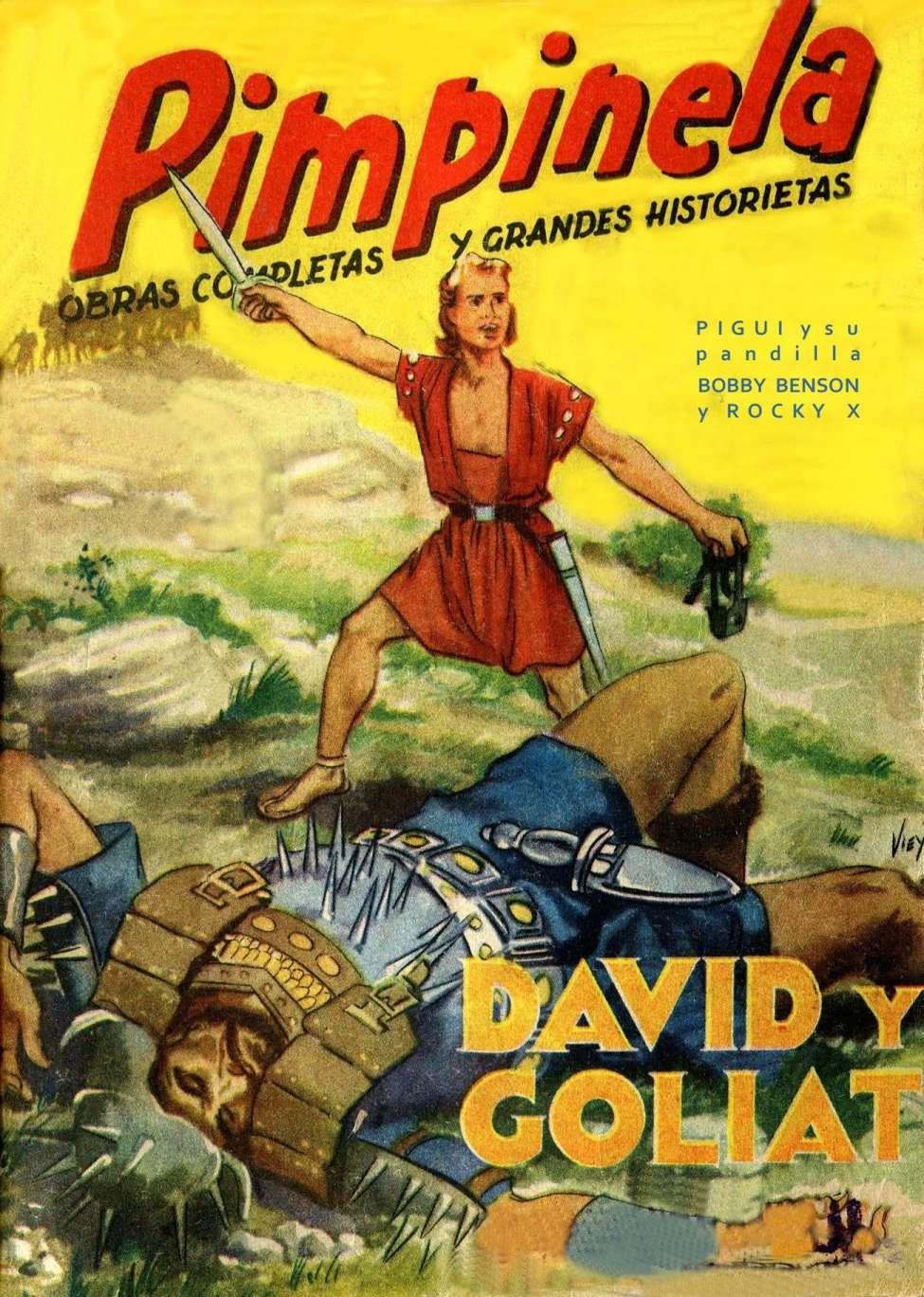 Comic Book Cover For Pimpinela 27 - David y Goliat