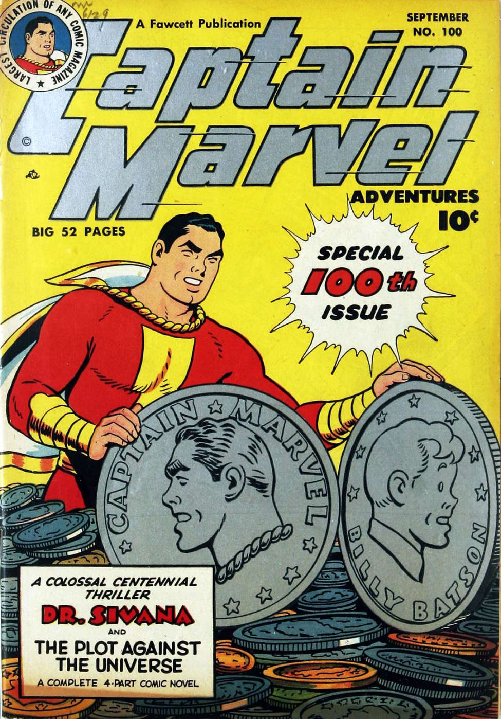Comic Book Cover For Captain Marvel Adventures #100