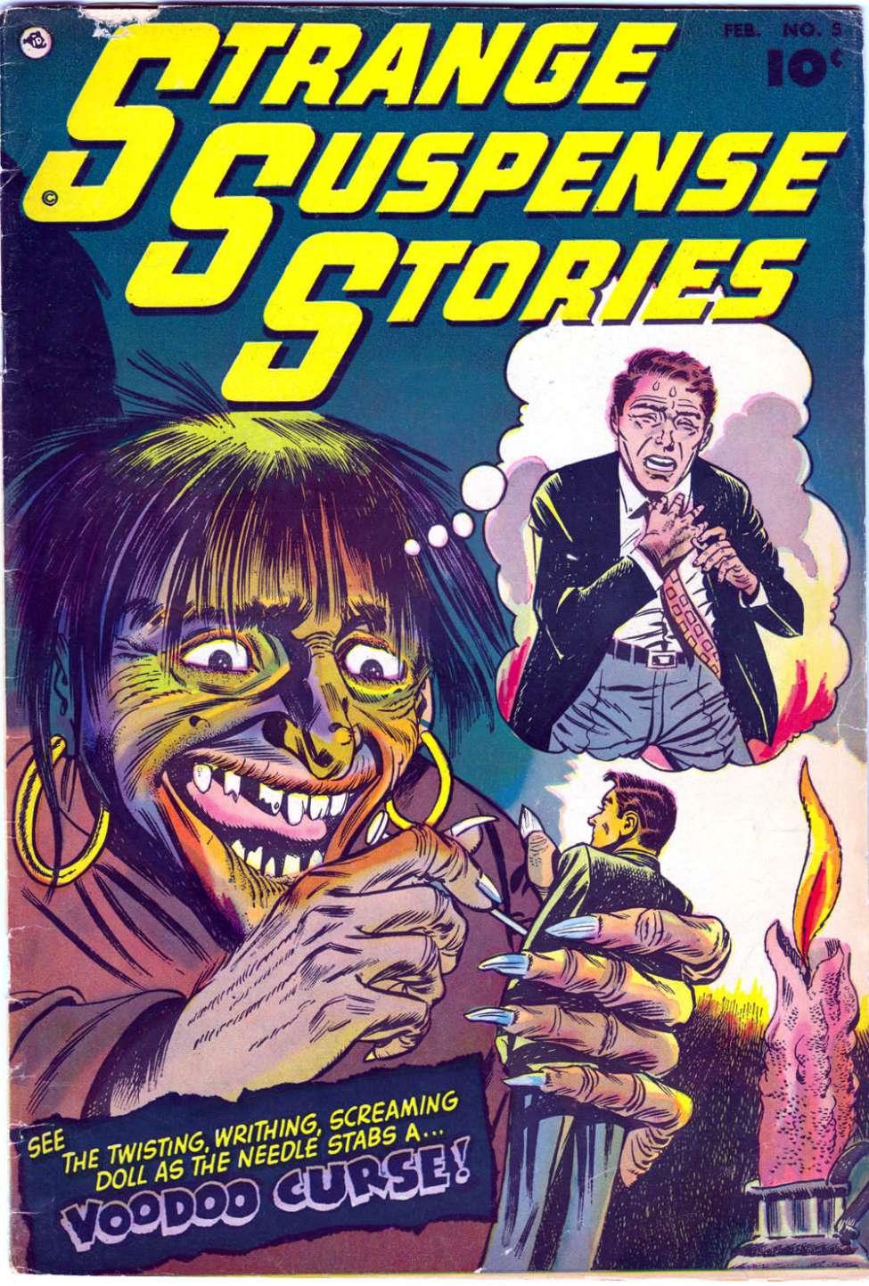 Comic Book Cover For Strange Suspense Stories #5