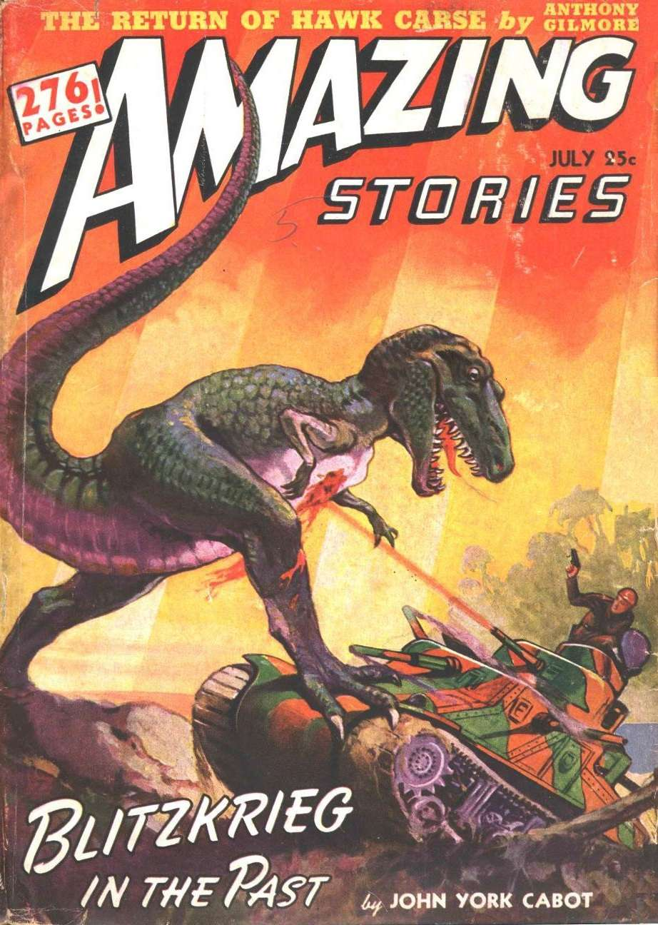 Comic Book Cover For Amazing Stories v16 07 - Blitzkrieg in the Past - John York Cabot
