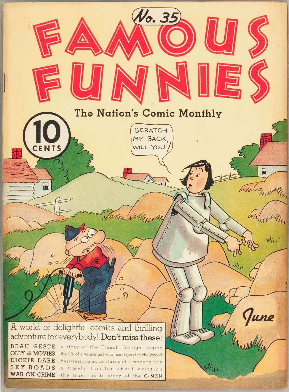 Comic Book Cover For Famous Funnies #35