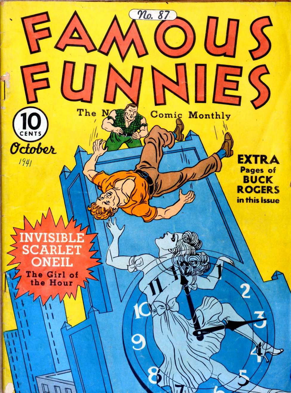 Comic Book Cover For Famous Funnies #87
