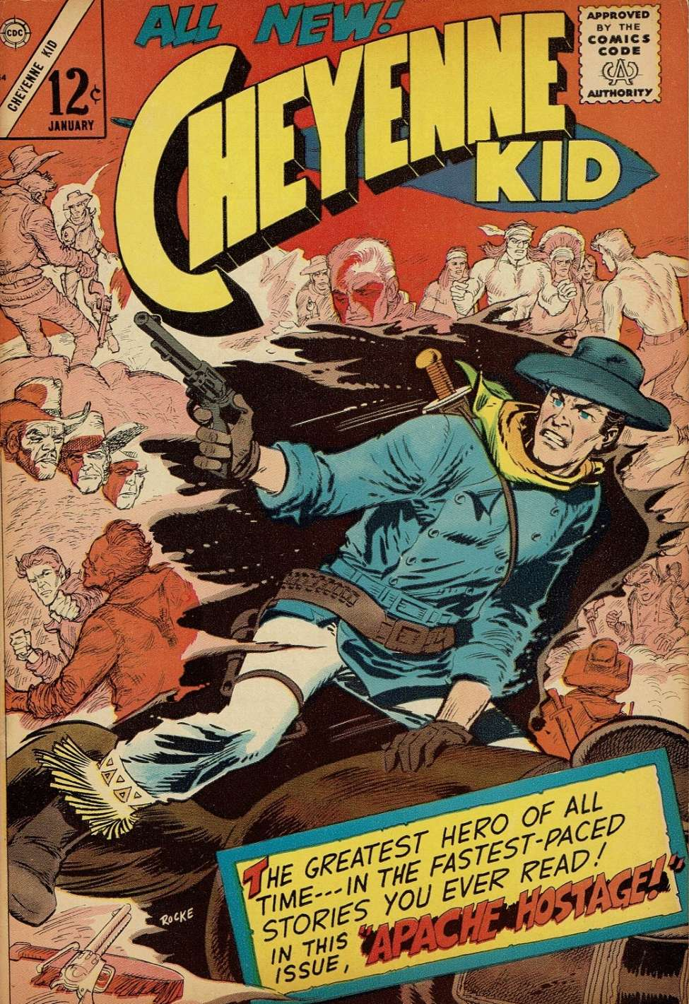 Comic Book Cover For Cheyenne Kid #54