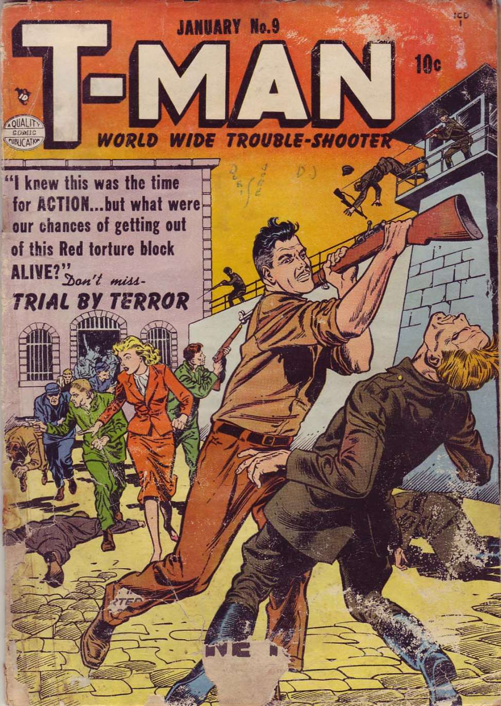Comic Book Cover For T-Man #9