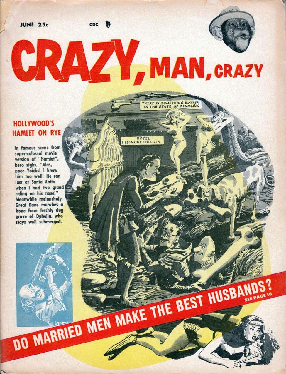 Comic Book Cover For Crazy, Man, Crazy 2