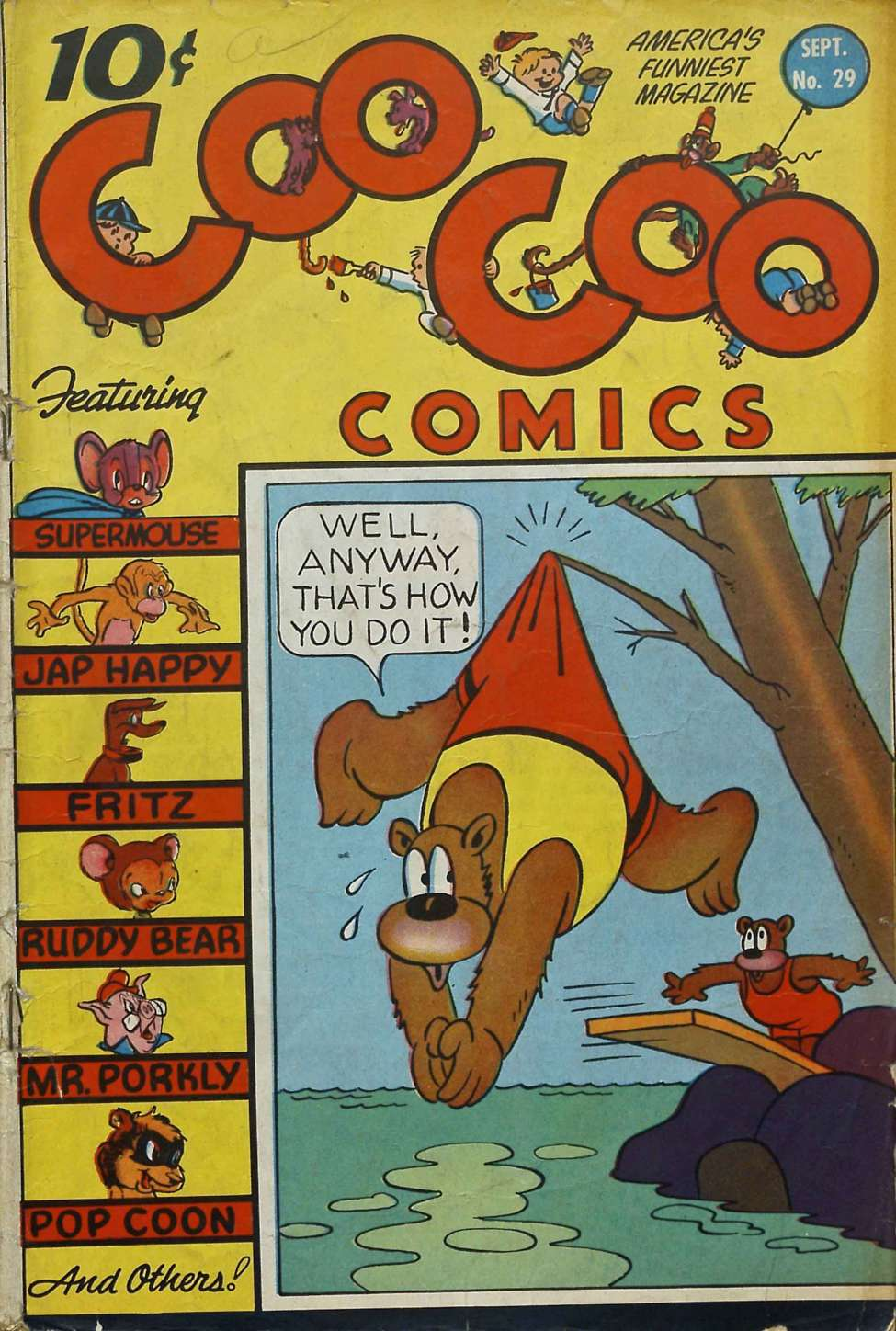 Comic Book Cover For Coo Coo Comics #29