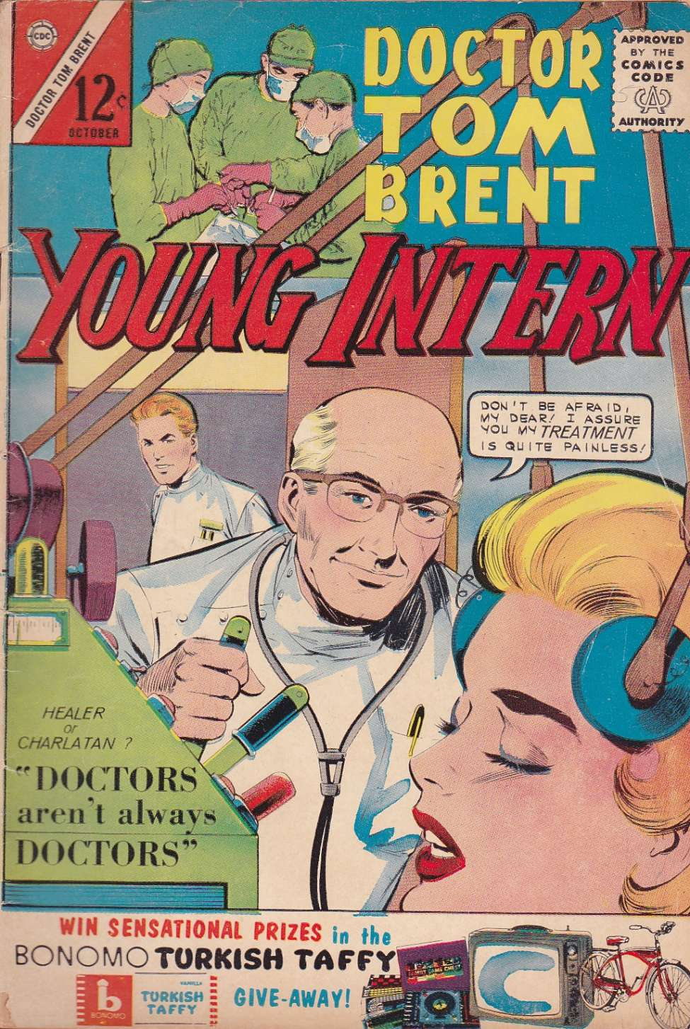 Comic Book Cover For Doctor Tom Brent, Young Intern #5
