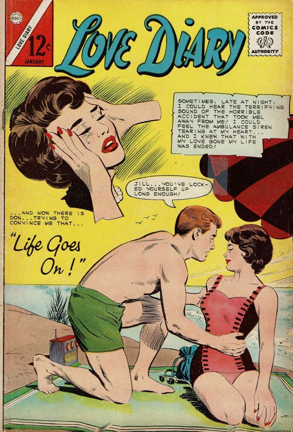 Comic Book Cover For Love Diary #36