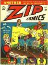 Cover For Zip Comics 37