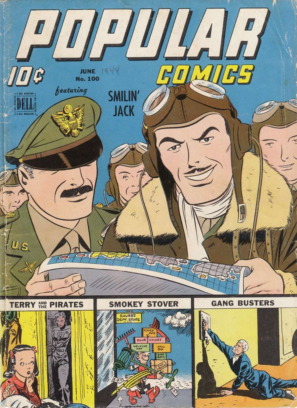 Comic Book Cover For Popular Comics #100