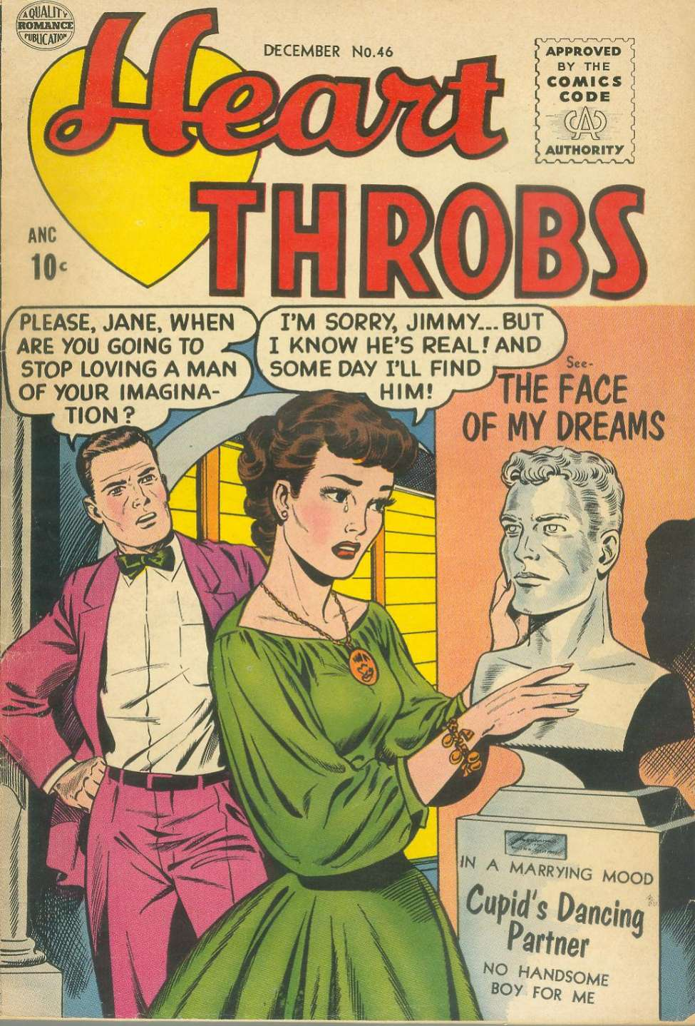 Comic Book Cover For Heart Throbs #46