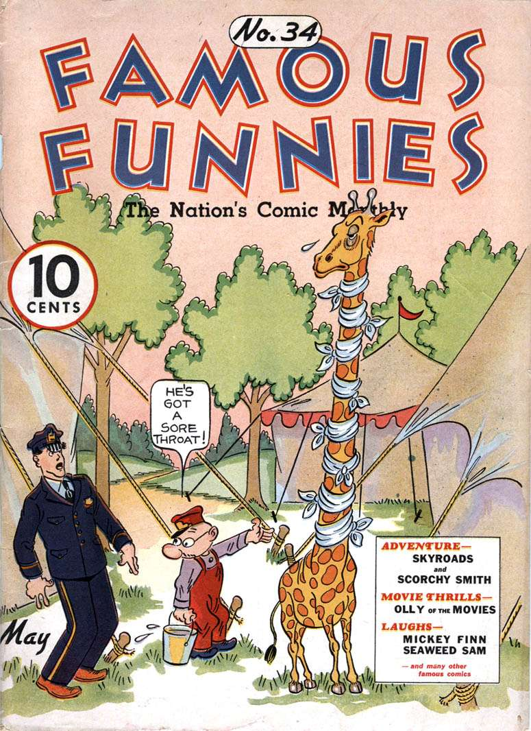Comic Book Cover For Famous Funnies #34
