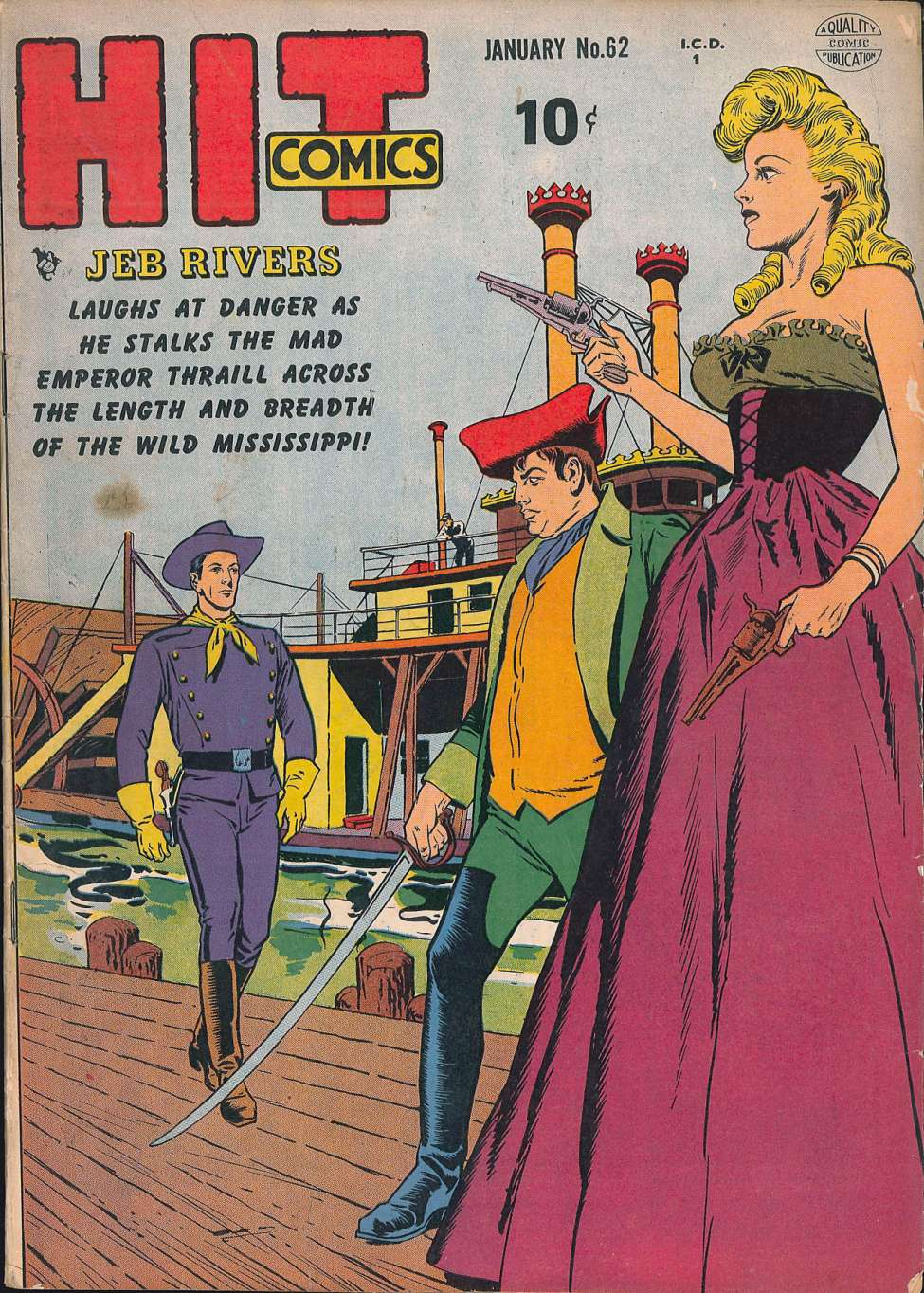 Comic Book Cover For Hit Comics #62