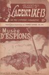 Cover For L'Agent IXE 13 v2 110 Musée d'espions