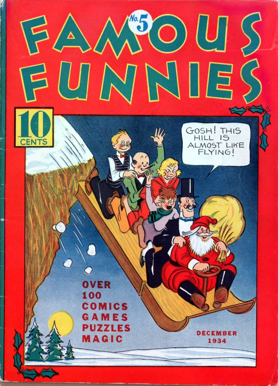 Comic Book Cover For Famous Funnies #5