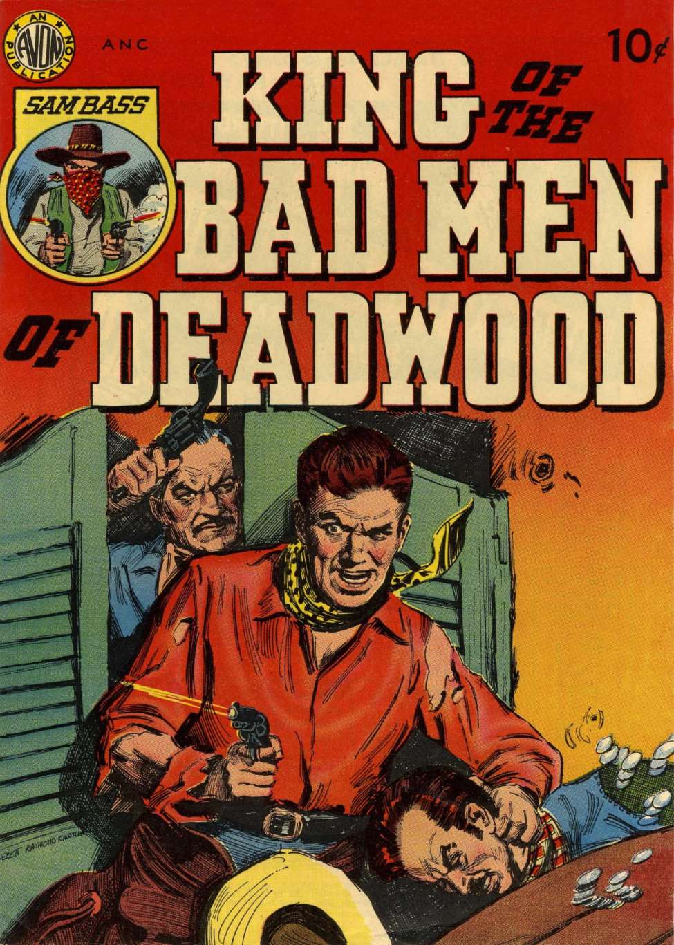 Comic Book Cover For King of the Badmen of Deadwood (nn) - Version 2