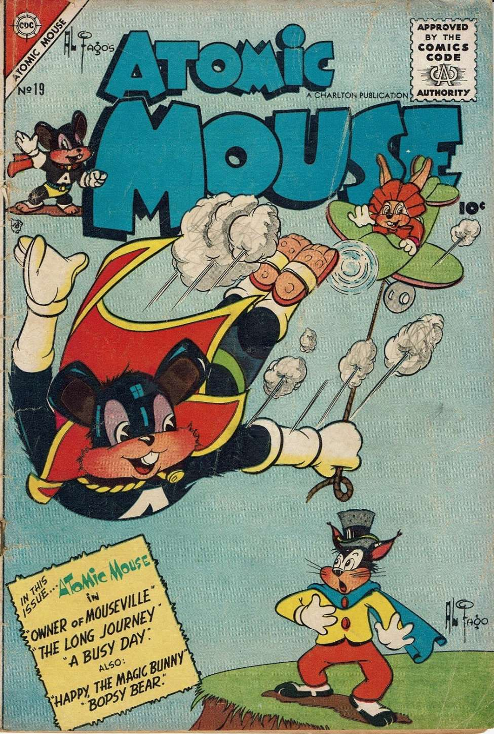 Comic Book Cover For Atomic Mouse #19