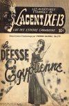Cover For L'Agent IXE 13 v2 177 La déesse Egyptienne