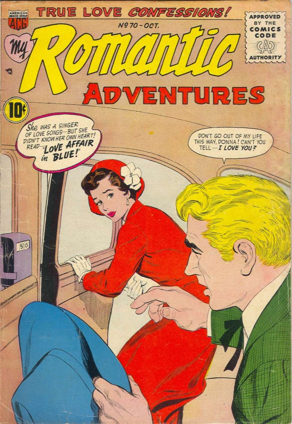Comic Book Cover For My Romantic Adventures #70