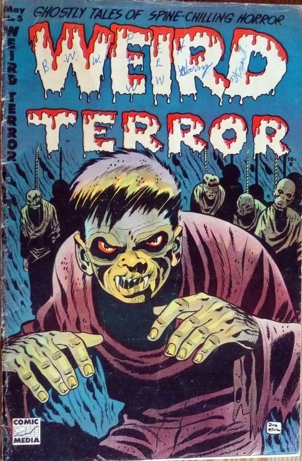 Comic Book Cover For Weird Terror #5