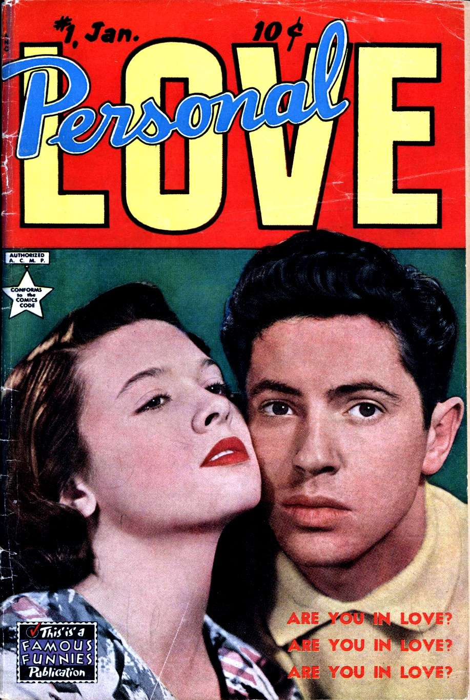 Comic Book Cover For Personal Love #1