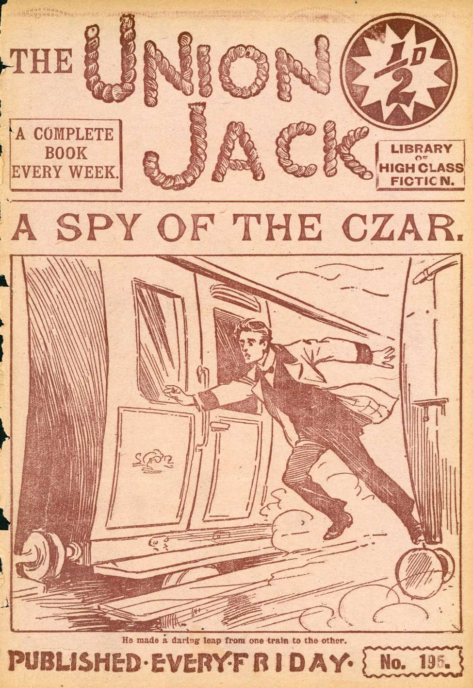 Comic Book Cover For The Union Jack 195 - A Spy of the Czar