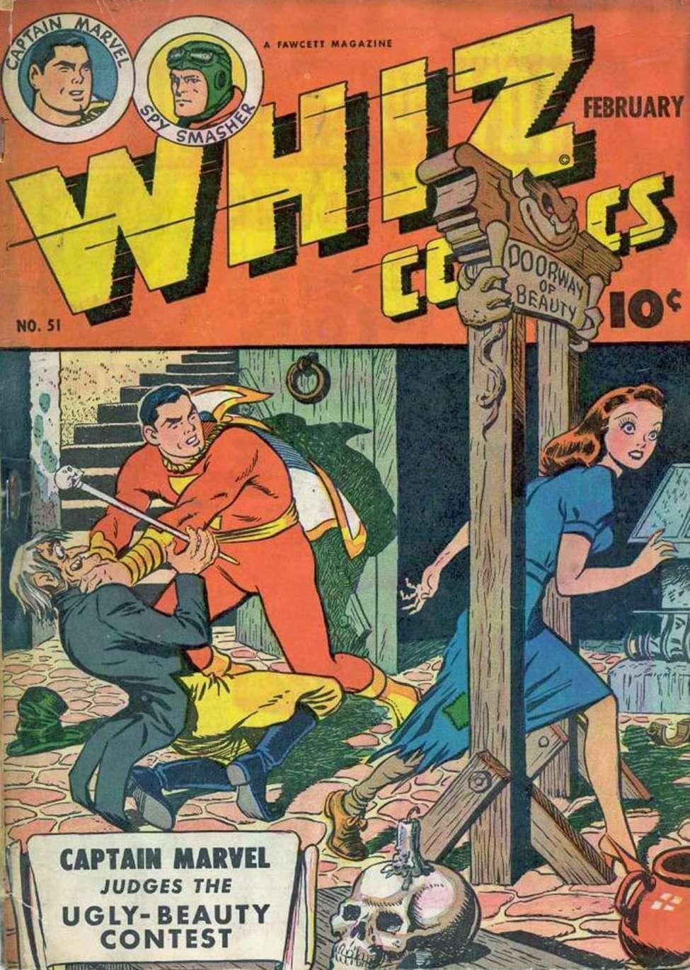 Comic Book Cover For Capt. Marvel Whiz Archives Vol 12