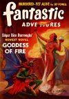 Cover For Fantastic Adventures v3 5 Goddess of Fire Edgar Rice Burroughs