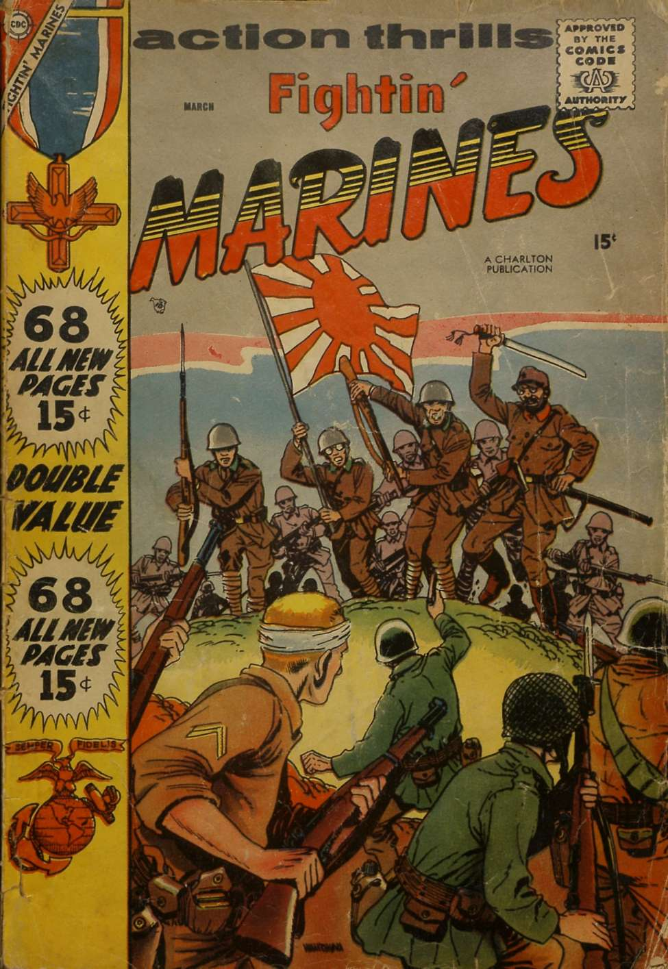 Comic Book Cover For Fightin' Marines #25