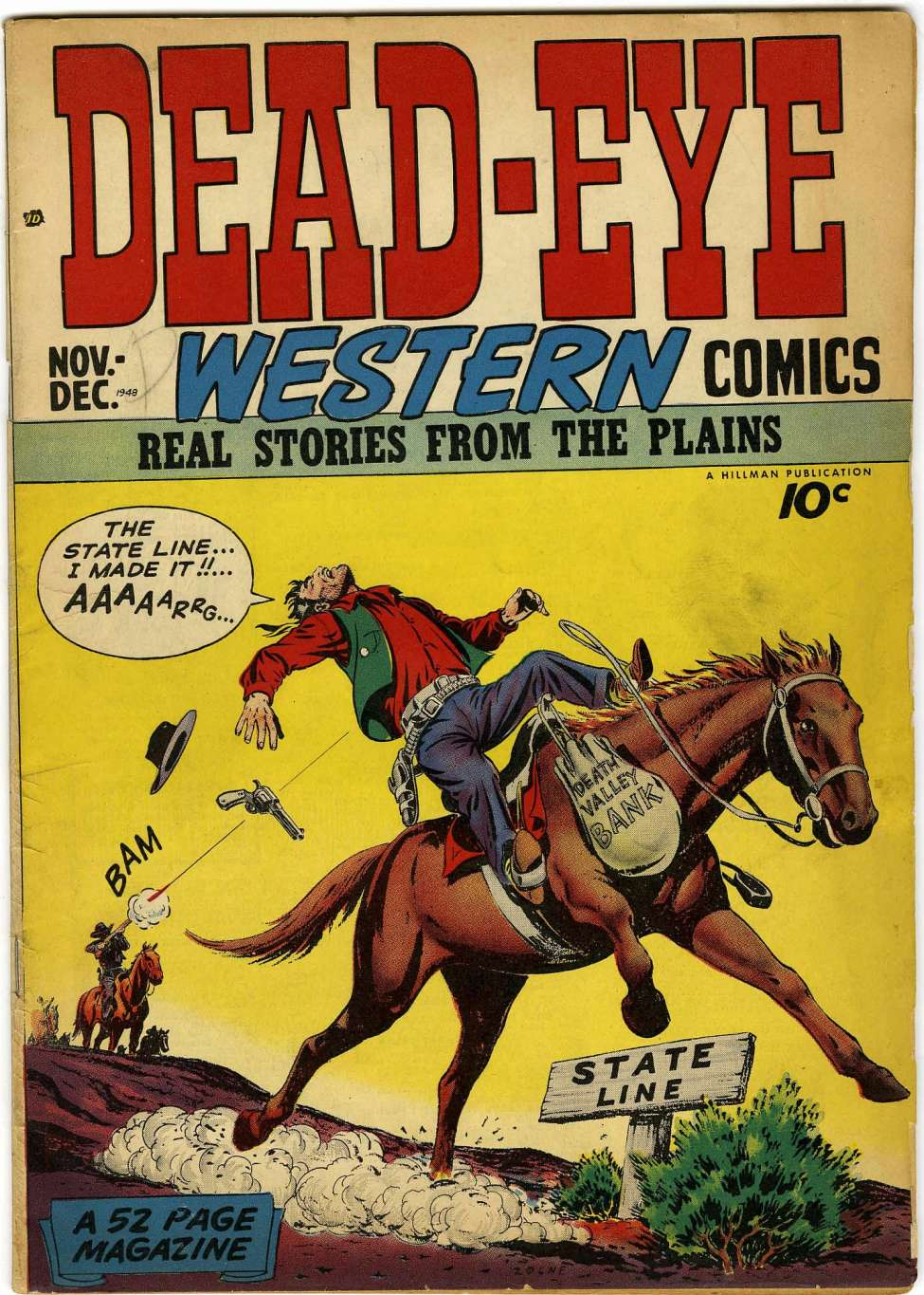 Comic Book Cover For Dead-Eye Western Comics v1 #1