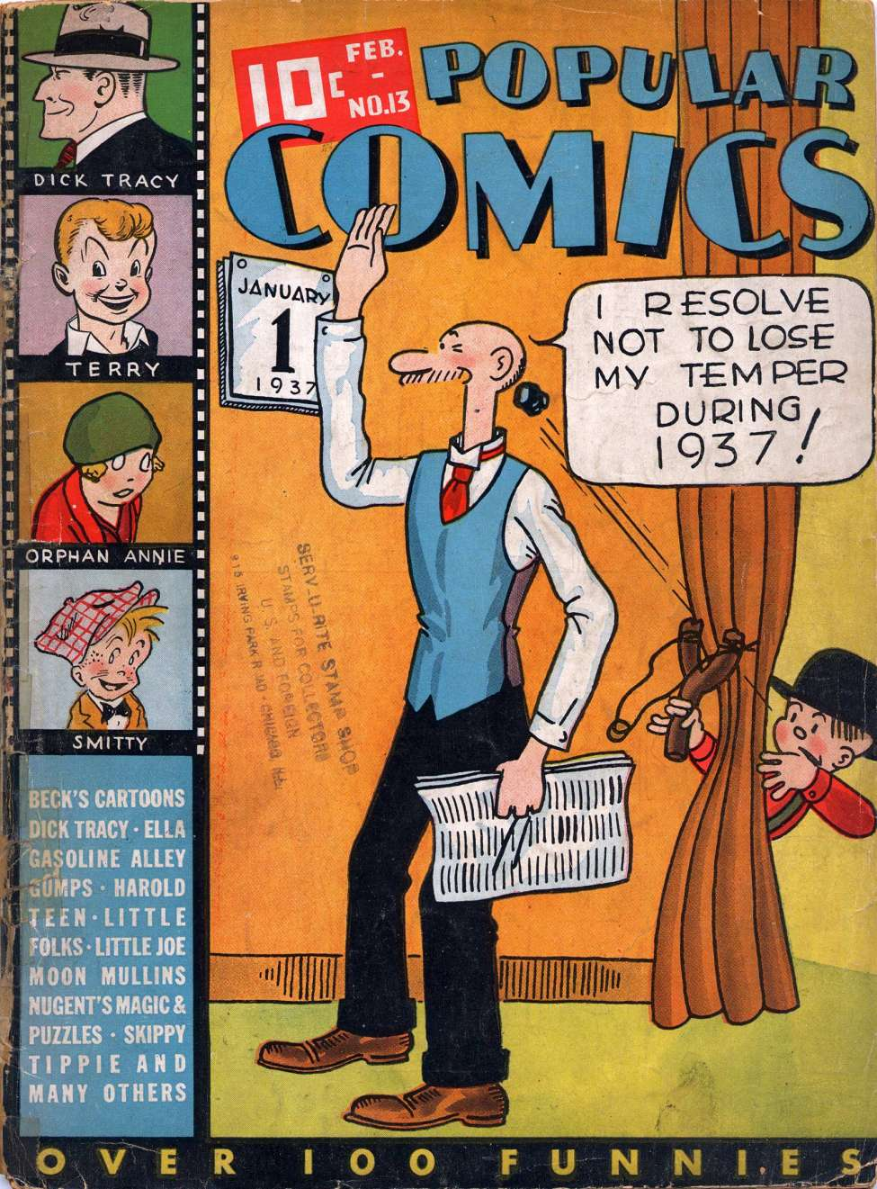 Comic Book Cover For Popular Comics #13