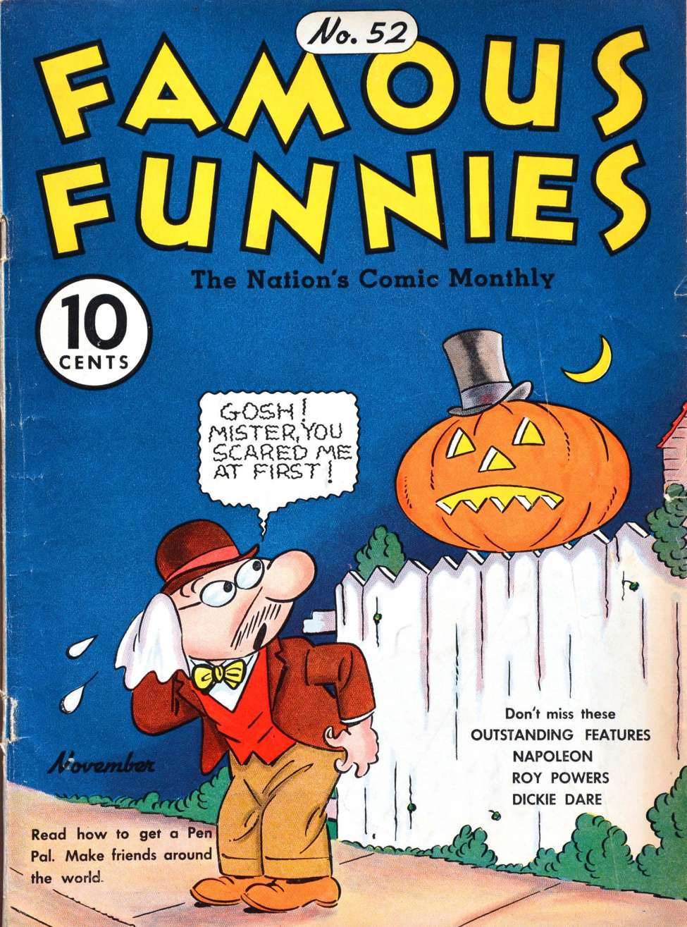 Comic Book Cover For Famous Funnies #52 - Version 1