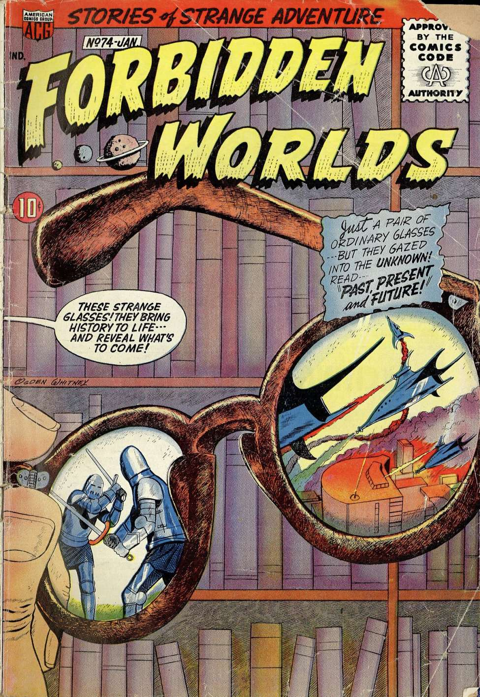 Comic Book Cover For Forbidden Worlds #74