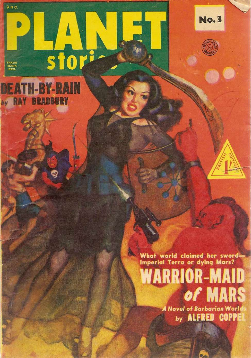 Comic Book Cover For Planet Stories (UK) 03 - Death-by-Rain - Ray Bradbury