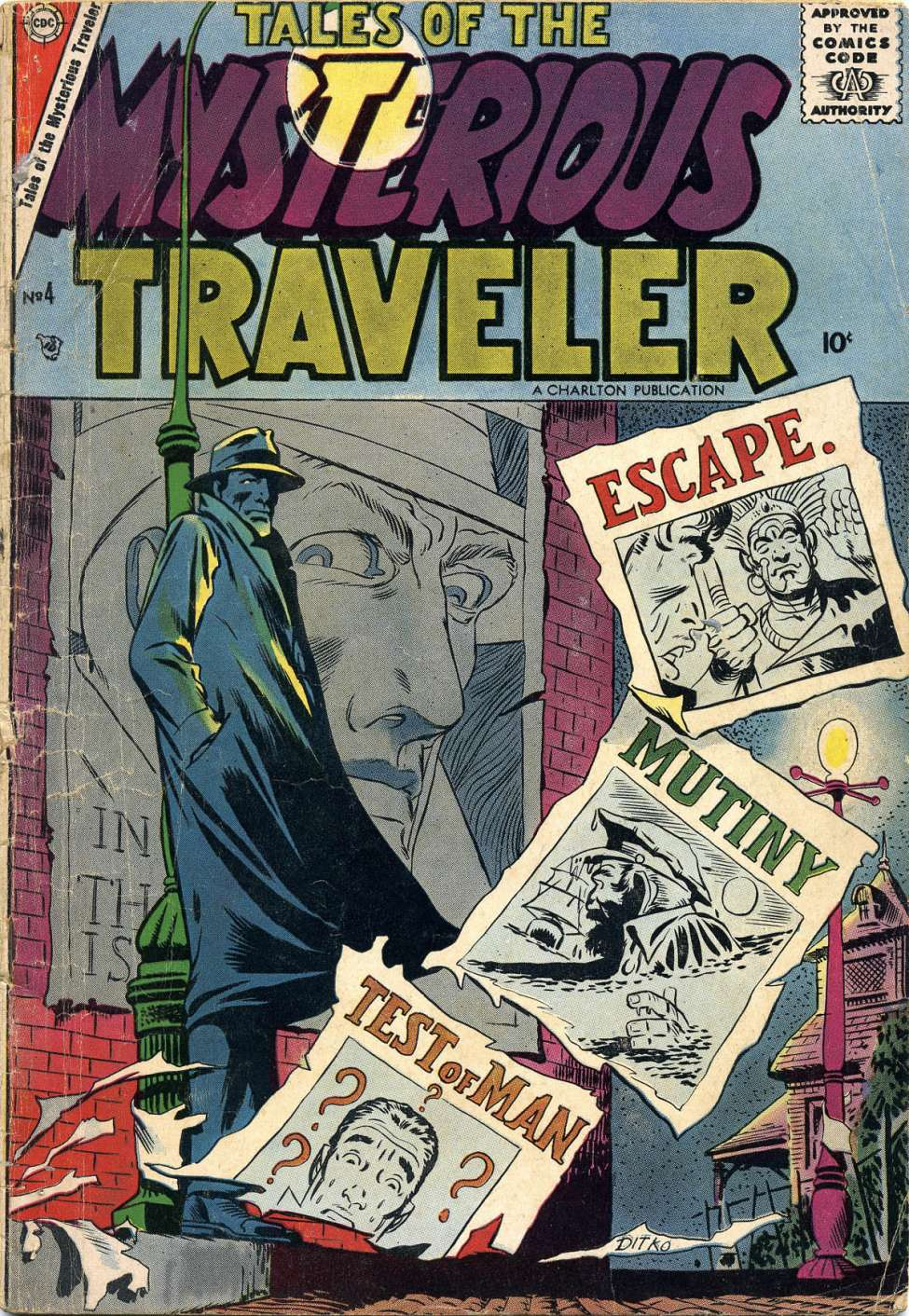 Comic Book Cover For Tales of the Mysterious Traveler #4