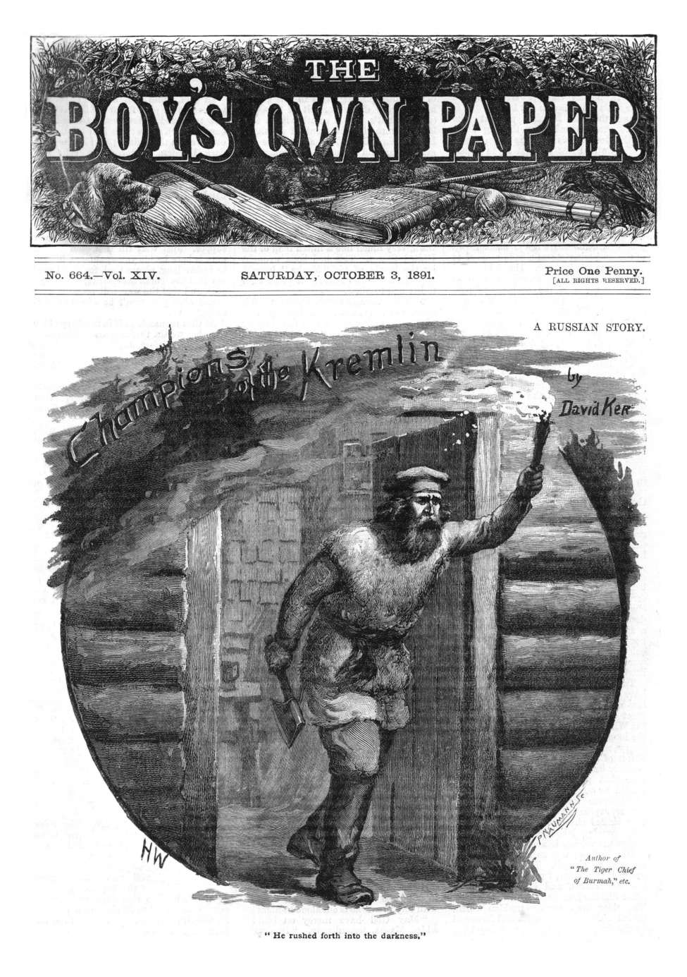 Comic Book Cover For The Boy's Own Paper v14 664