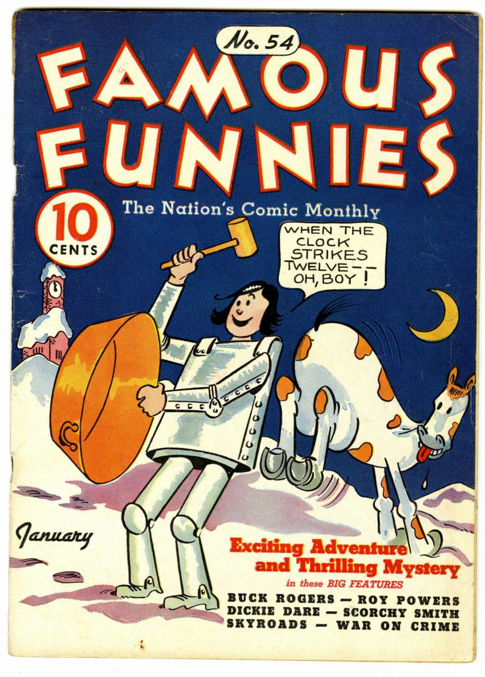Comic Book Cover For Famous Funnies #54
