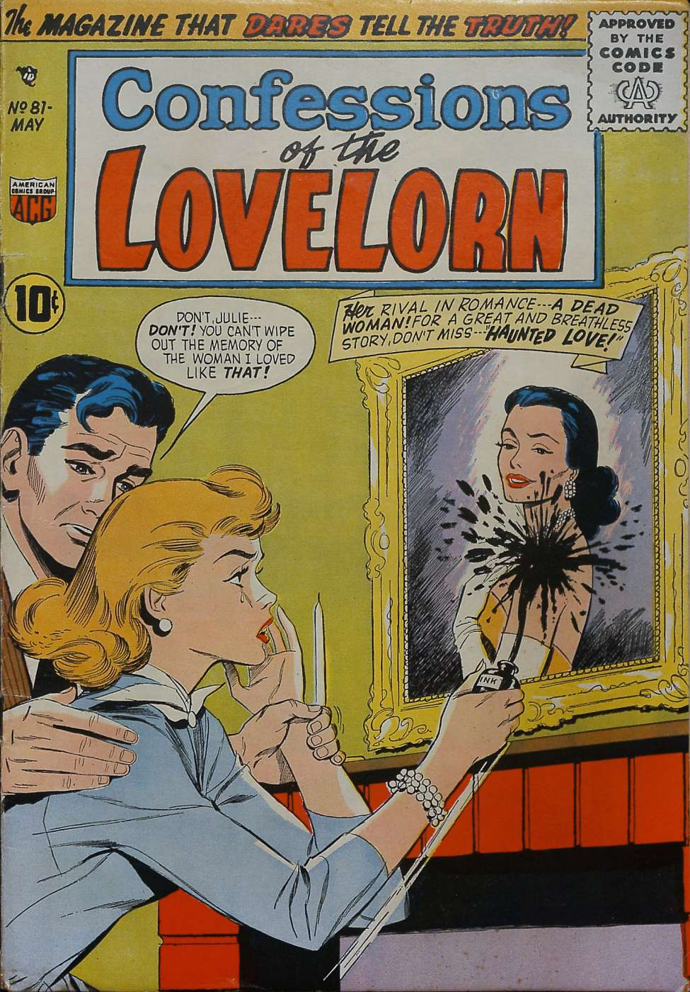 Comic Book Cover For Confessions of the Lovelorn #81