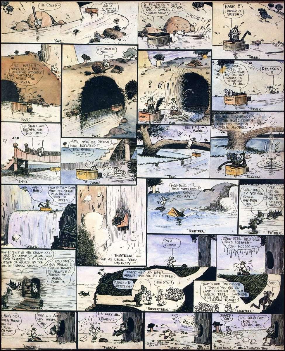 Comic Book Cover For Krazy Kat 1916