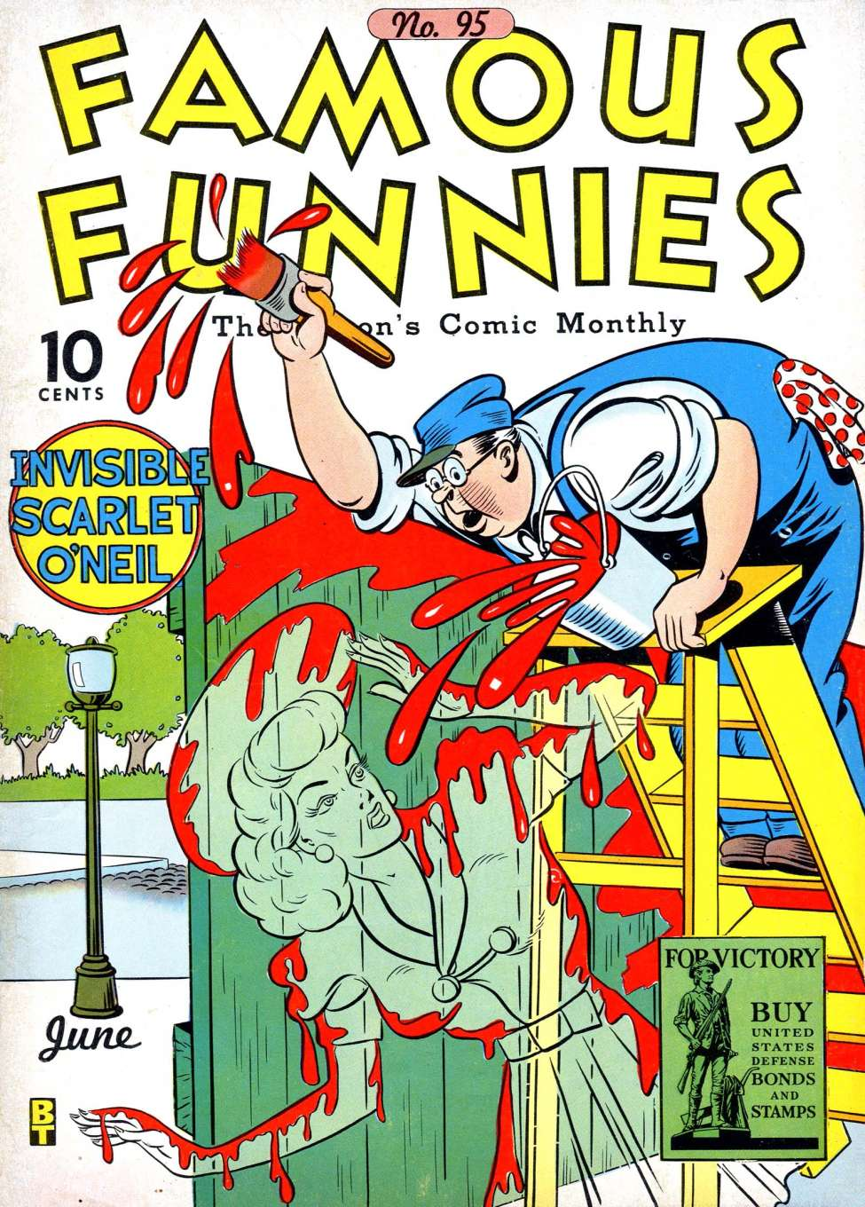 Comic Book Cover For Famous Funnies #95