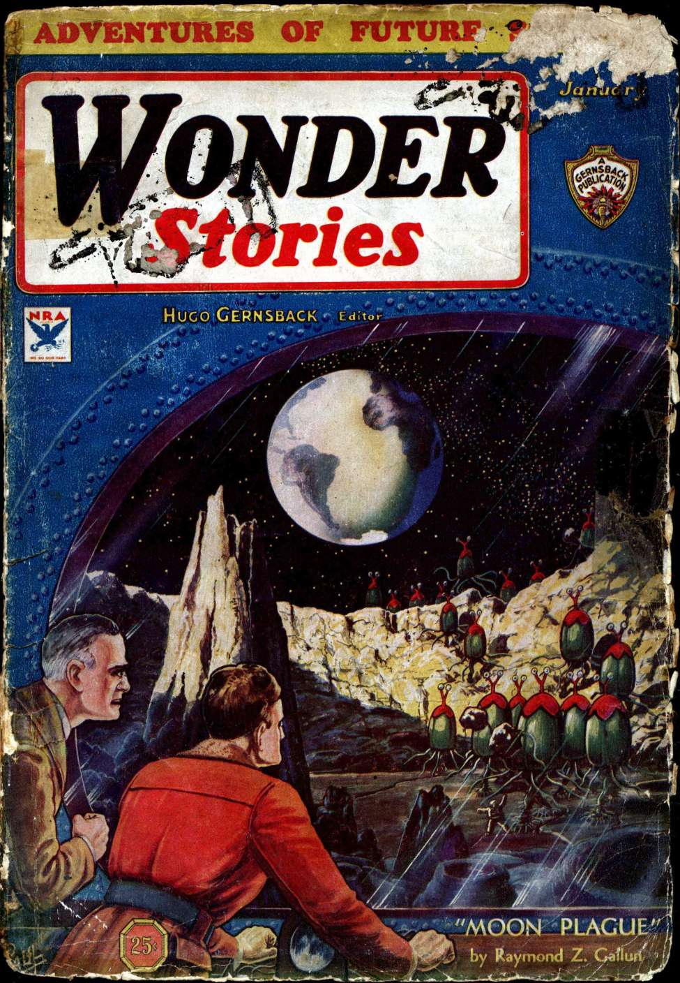Comic Book Cover For Wonder Stories v5 06 - The Exile of the Skies - Richard Vaughan